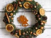 Návod na vánoční věnec na dveře