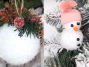 3 DIY návod na zasněžené vánoční ozdoby