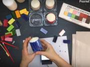 Enkaustika - návod: Svíčky malované enkaustickým voskem