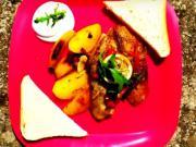 Grilovaná ryba na zelenině