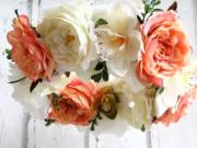 Květinový romantický věnec