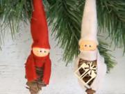 Návod na vánoční ozdobu ze šišky