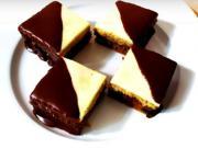 Dvoubarevné ořechové kostky - recept