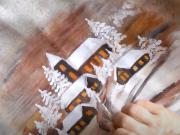Malovaný polštář s vánočním motivem