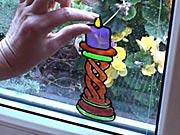 Malujeme na sklo - Malujeme barvami na sklo