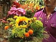 Květinová dekorace - jak vyrobit dekoraci z květů