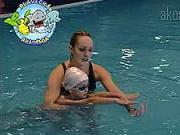 Nácvik splývání - Plavání dětí  - jak naučit dítě plavat