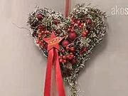 Vánoční srdce - jak si vyrobit vánoční ozdobu ve tvaru vánočního srdce