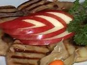 Grilovaná husí játra s jablky - recept na grilovaná husí jatra